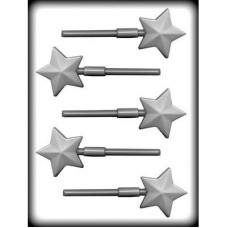 Hard Candy,  Chocolate Sucker Mold Faceted Star 2'' by CK Products