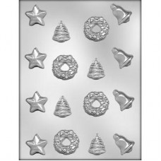 Chocolate Mold Christmas Star, Bell, Wreath and Tree by Ck Products