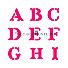 Stencil Alphabet Block Set by The Cookie Countess