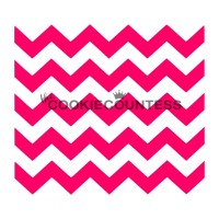 Stencil Chevron by The Cookie Countess
