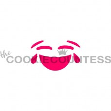 Pochoir Emoji Riant aux Éclats de The Cookie Countess
