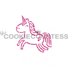 Stencil Cutie Unicorn Paint Your Own by The Cookie Countess