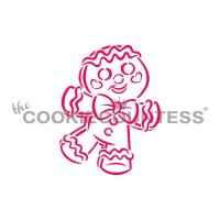 Stencil Drawn with Character Happy Gingerbread Man Paint Your Own by The Cookie Countess