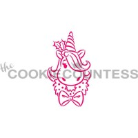 Stencil Drawn with Character Holiday Unicorn Paint Your Own by The Cookie Countess