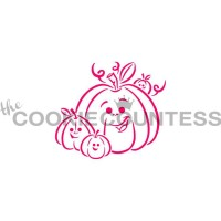 Stencil Drawn with Character Pumpkin Family Paint Your Own by The Cookie Countess