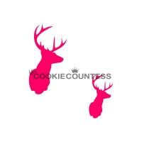 Stencil Deer Head by The Cookie Countess