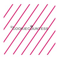 Pochoir Mince Ligne Diagonale de The Cookie Countess