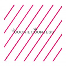 Stencil Diagonal Thin Stripe by The Cookie Countess