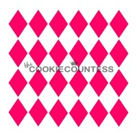Stencil Harlequin by The Cookie Countess