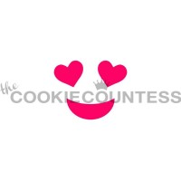 Stencil Heart Eyes Emoji by The Cookie Countess