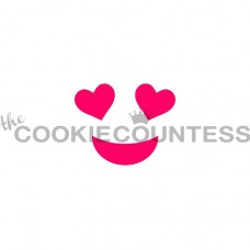 Pochoir Emoji en Amour de The Cookie Countess