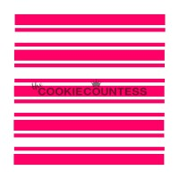 Stencil Preppy Stripes by The Cookie Countess