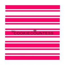 Stencil Preppy Stripes by The Cookie Countess