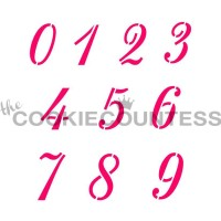 Stencil Script Numbers by The Cookie Countess