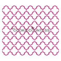 Stencil Small Quatrefoil by The Cookie Countess
