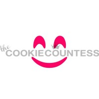 Stencil Smiling Emoji by The Cookie Countess