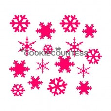 Stencil Snowflakes by The Cookie Countess