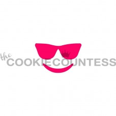 Pochoir Emoji aux Lunettes de The Cookie Countess