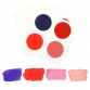 Edible PYO Paint Palettes - Valentine's Day Colors (12 units) by The Cookie Countess
