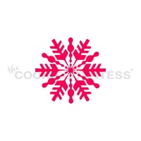 Stencil Snowflake Bauble by The Cookie Countess