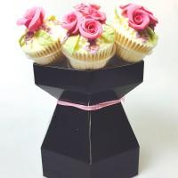Cupcake Bouquet Box Kit - Black