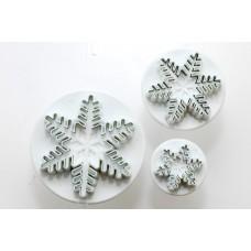 Découpoirs poussoirs Flocons de neige de PME