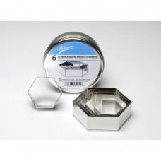 Ateco's Cutters kit stainless steel - Hexagone