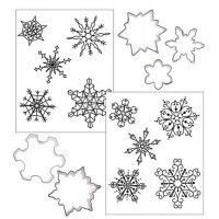 Cookie Cutter Texture Set- Snowflakes by Autumn Carpenter