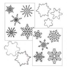 Ensemble de découpoirs et tapis d'impression pour flocon de neige de Autumn Carpenter
