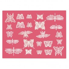 Beautiful Butterflies Lace Mat Cake Lace by Claire Bowman