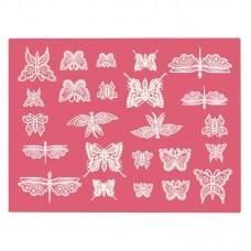 Tapis en Silicone Pour Dentelle comestible Papillons de Cake Lace Claire Bowman