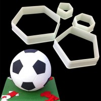 Soccer - Football Ball Plastic Cutter (Pentagon & Hexagon) by Maman Gato & Cie