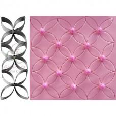 Marqueur en forme de pétales mosaïque