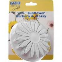 Veined Sunflower - gerbera & daisy Plunger cutter 3''