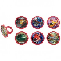 Cupcake Rings Planes 2 Piston Peak Rescue Team Decoring by Decopac