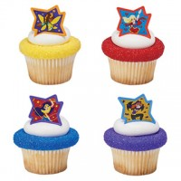 Cupcake Rings DC Super Hero Girls Just be Awesome Decorings by Decopac
