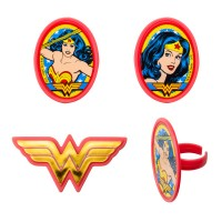 Cupcake Rings Wonder Woman Amazing Amazon Decorings by Decopac