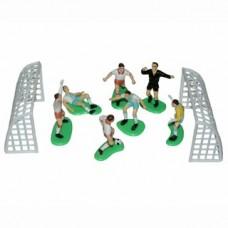 Ensemble de joueurs de soccer avec arbitre