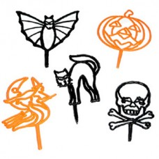 Halloween Silhouette Cupcake Topper Picks by Decopac