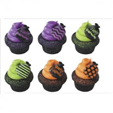 Cupcakes Ring Happy Halloween Treat Tote Decoring by Decopac