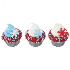 Cupcake Ring Holiday Snowflake Decorings by Decopac