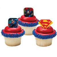 Cupcake Rings SuperMan Decorings by Decopac
