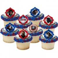 Cupcake Rings Captain America Decorings by Decopac