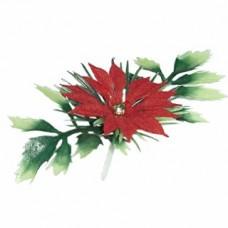 Poinsettia Pick