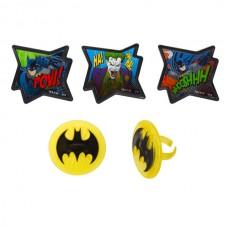 Cupcake Rings Batman - Pow and Whooshhh Decorings by Decopac