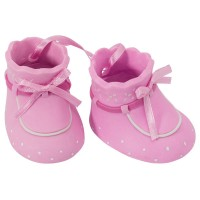 Baby Booties Pink DecoSet by DecoPac