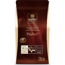 Chocolat de couverture Blanc Zéphyr 34 % en pistole de Cacao Barry