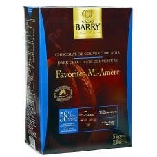 Chocolat de couverture Noir Mi-Amère 58 % en pistole de Cacao Barry