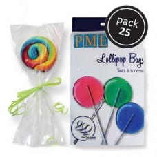Lollipop Bags With Silver Ties by PME Cake