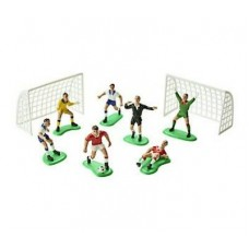 Football/Soccer Cake Topper Set of 9 by PME Cake